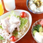【夏バテ予防の食事レシピ】豚しゃぶサラダうどん献立