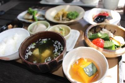 野菜や海藻の多い定食メニュー