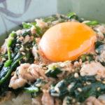 ツナとほうれん草のオイスター炒め【タンパク質の多い料理】
