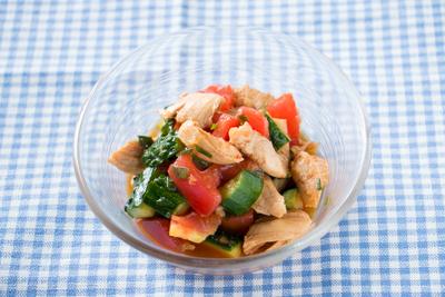ささみと夏野菜の中華サラダ(出来上がり)