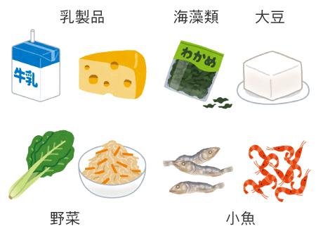 カルシウム・マグネシウムの多い食べ物