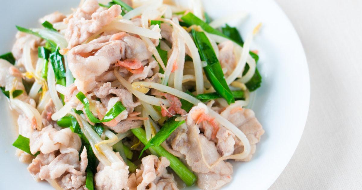 桜えび入り肉野菜炒め