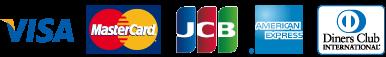 クレジットカード(VISA,MasterCard,JCB,AMEX,Diners)