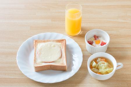 アスリートの朝食(パン)の献立