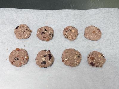丸めたクッキー