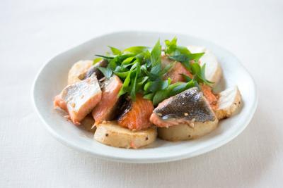 鮭と長芋のソテー