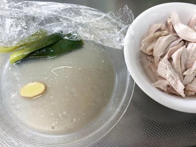 鶏むね肉の蒸し汁