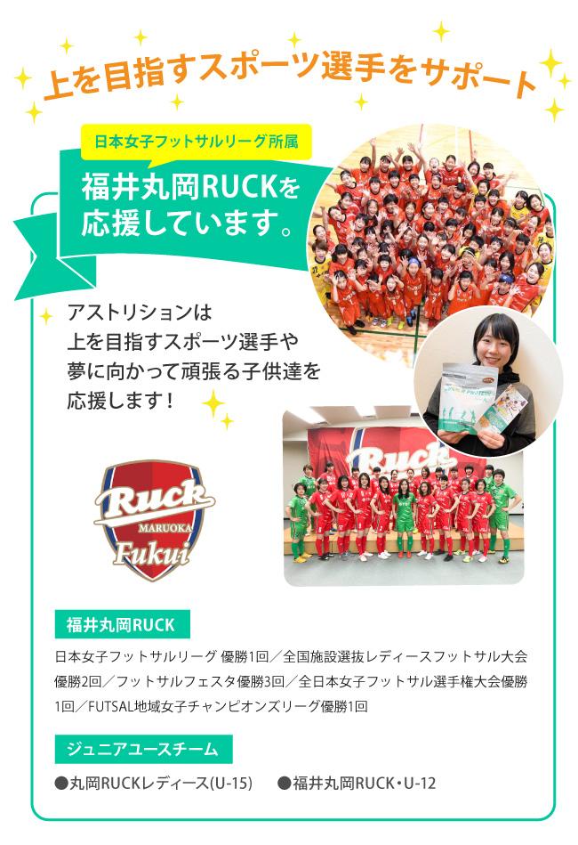 福井丸岡RUCKを応援しています。