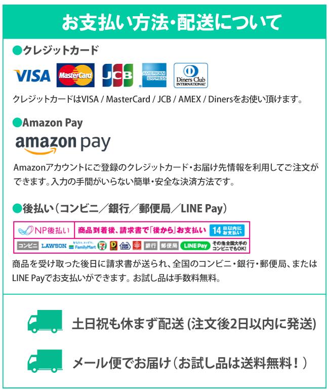 お支払い方法・配送方法
